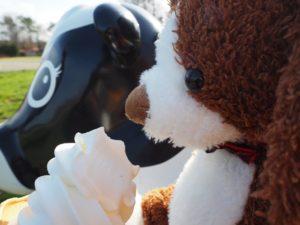 ウシさんのお乳から作ったソフトクリームは格別!